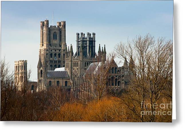 Greeting Card featuring the photograph Ely Cathedral Scenic by Andrew  Michael