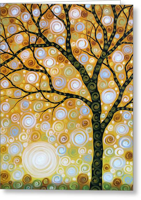 Emanating  Greeting Card by Amy Giacomelli