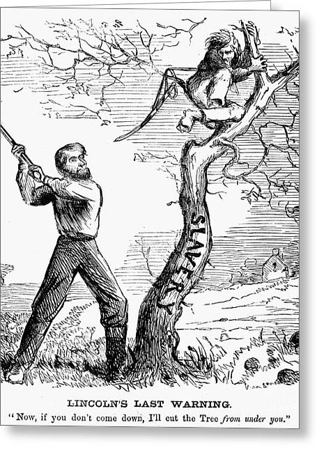 Emancipation Cartoon, 1862 Greeting Card by Granger