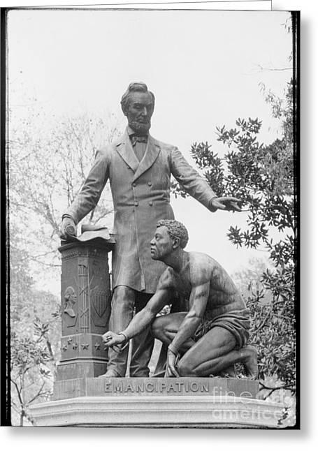 Emancipation Memorial, 1876 Greeting Card