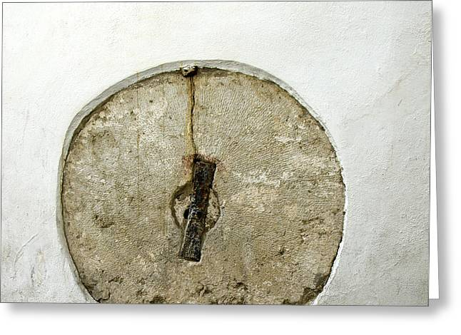 Embedded Millstone In A Street Of Seville  Greeting Card by Perry Van Munster
