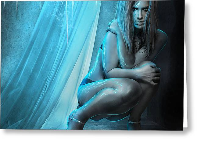 Embracing Eternal Cold Greeting Card by Amalia Iuliana Chitulescu