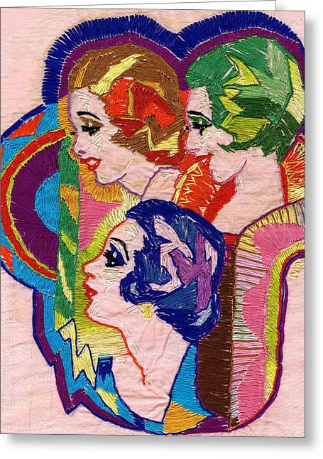 Embroidered Ladies Greeting Card