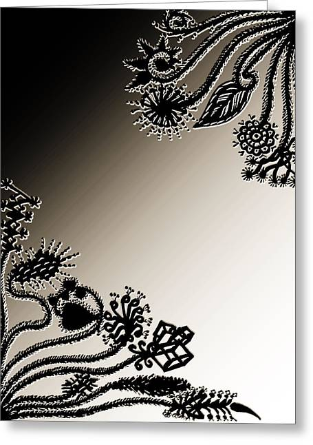 Embroidery At Corners Greeting Card by Sumit Mehndiratta
