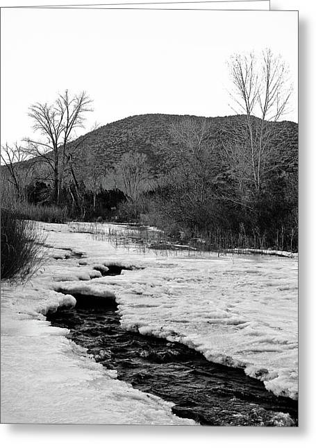 Greeting Card featuring the photograph Embudo Ice by Atom Crawford