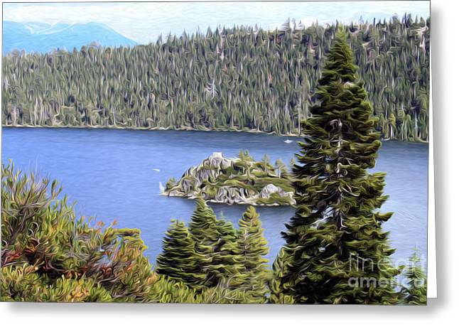 Emerald Bay State Park Greeting Card by Anne Raczkowski