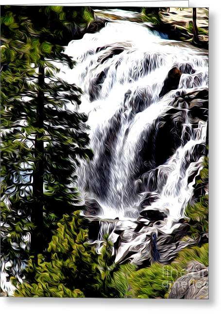 Greeting Card featuring the photograph Emerald Bay Waterfall by Anne Raczkowski