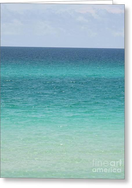 Emerald Coast Greeting Card by Jan Prewett