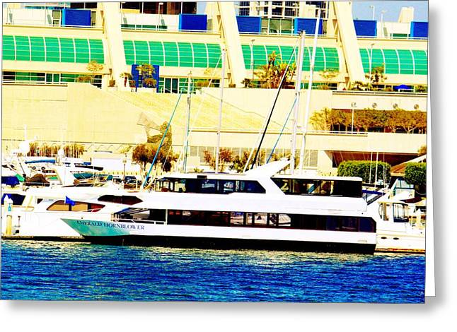 Emerald Hornblower Greeting Card by Rom Galicia