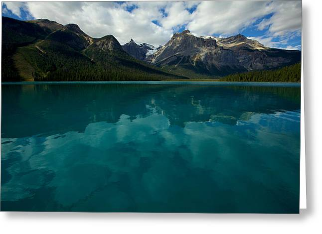 Greeting Card featuring the photograph Emerald Lake by Jane Melgaard