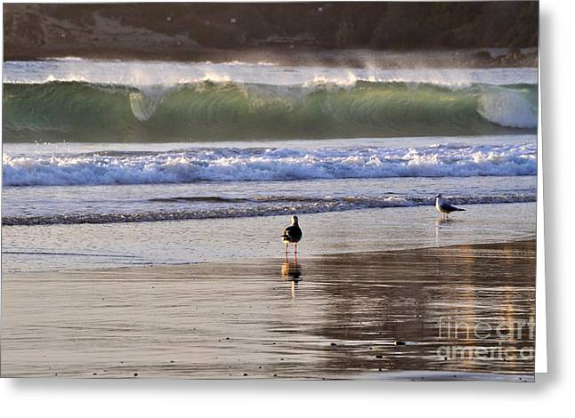 Greeting Card featuring the photograph Emerald Wave by Johanne Peale
