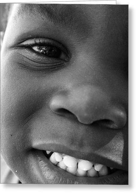 Emery Smile Greeting Card by Sally Bauer