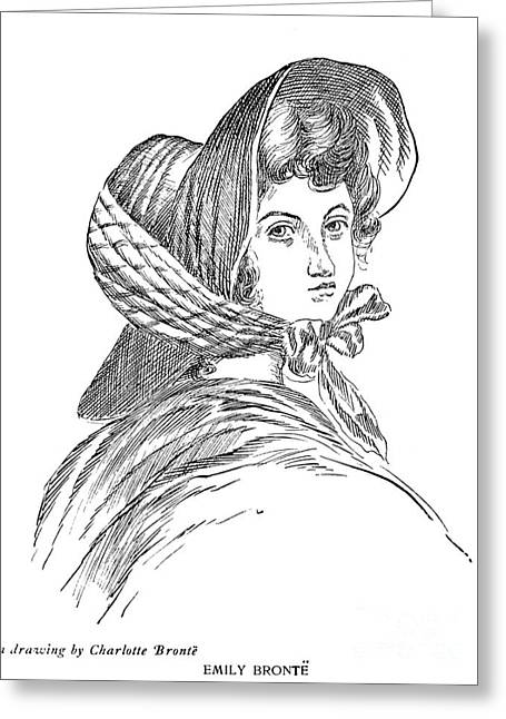 Emily Bront� (1818-1848) Greeting Card by Granger