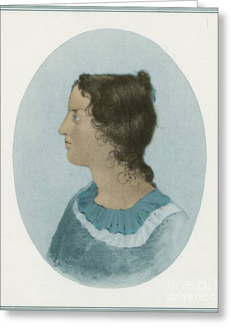Emily Bronte, English Author Greeting Card by Photo Researchers