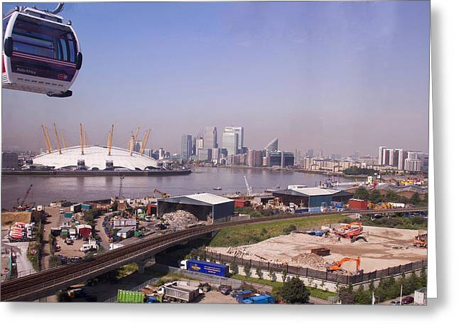 Emirates Cable Car Skyline Greeting Card by David French