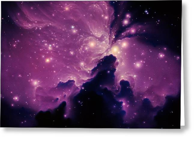 Emission Nebula Greeting Card by Joe Tucciarone