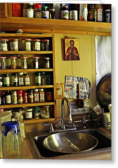 Emmaus House Kitchen Greeting Card by Sarah Loft
