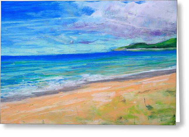 Empire Beach Greeting Card by Lisa Dionne