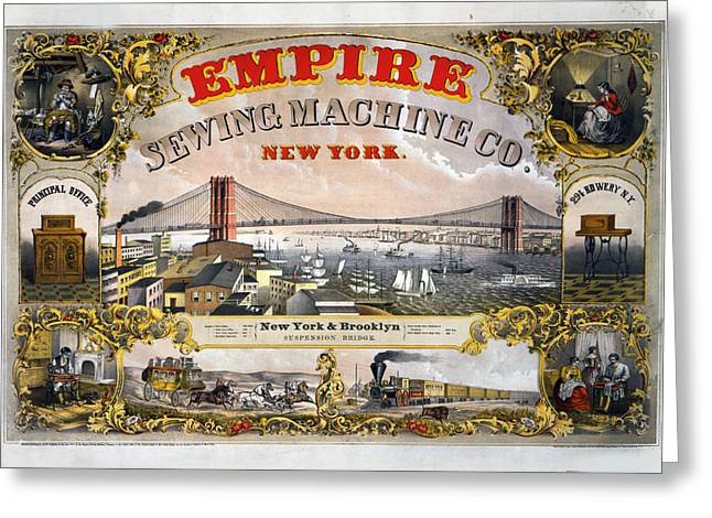 Empire Sewing Brooklyn Greeting Card by Charles  shoup