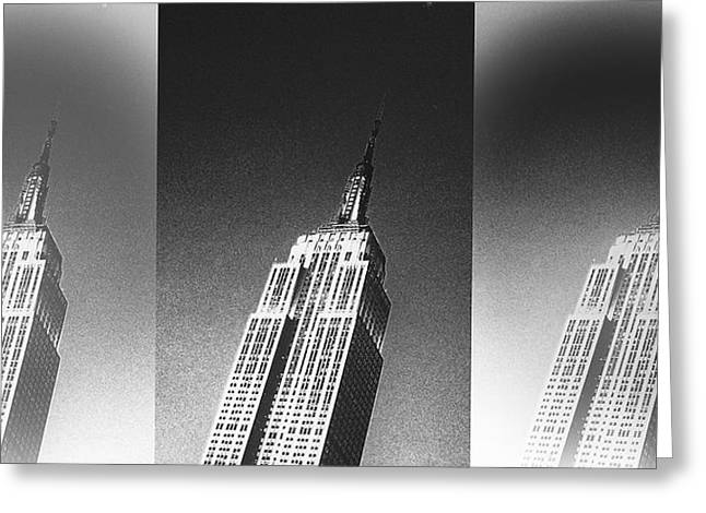 Empire State Black And White Greeting Card