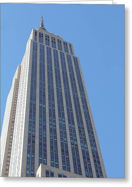 Empire State Building Greeting Card by David Grant