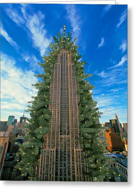 Empire State Building Morphing Into Christmas Tree Painting by ...