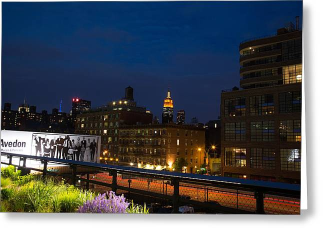 Empire State From High Line Greeting Card by John Dryzga