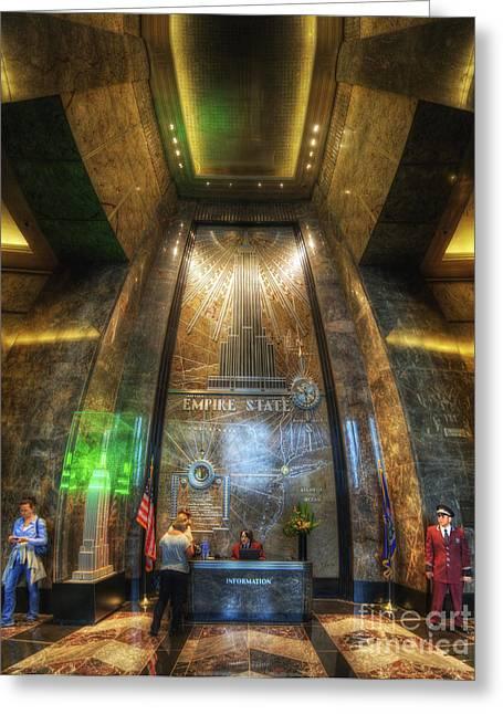 Empire State Lobby Vertorama Greeting Card