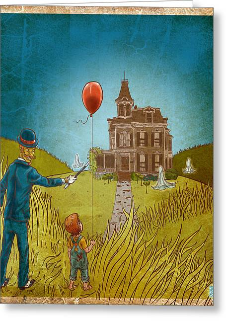 Empty Home Greeting Card by Baird Hoffmire