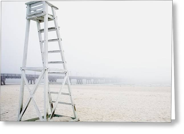 Empty Life Guard Station Greeting Card