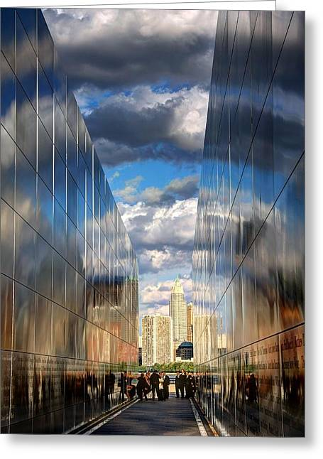 Empty Sky Memorial Greeting Card by John Loreaux