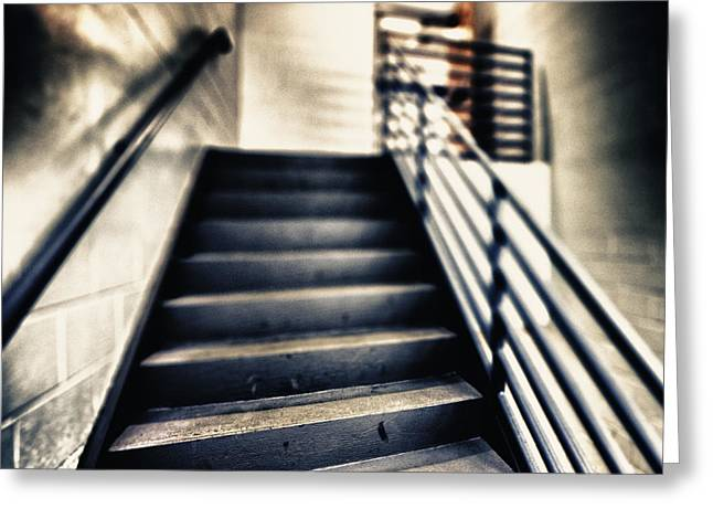 Empty Stairwell Greeting Card by Skip Nall