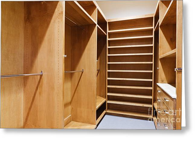 Empty Walk-in Closet Greeting Card by Jeremy Woodhouse