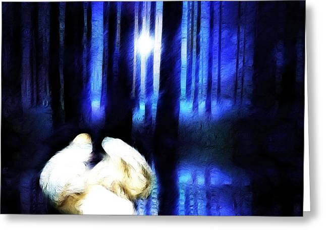 Enchanted Forest Greeting Card by Sharon Lisa Clarke