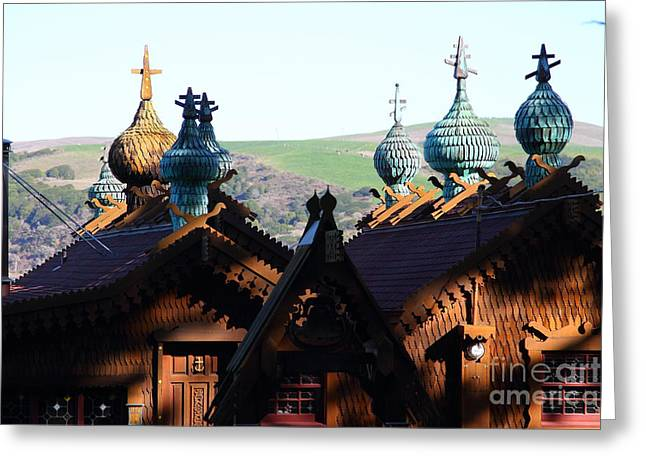 Enchanted House At Inverness In Point Reyes California . 7d9828 Greeting Card by Wingsdomain Art and Photography