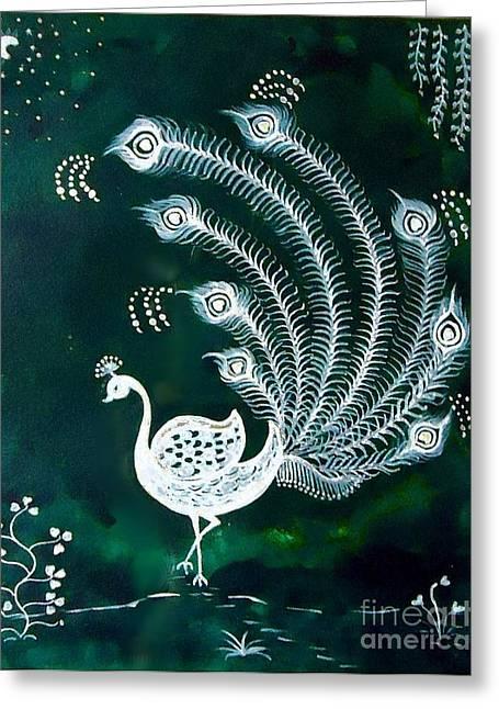 Enchanted Night Greeting Card by Anjali Vaidya