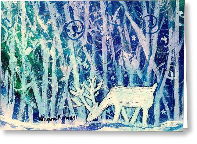 Enchanted Winter Forest Greeting Card by Shana Rowe Jackson