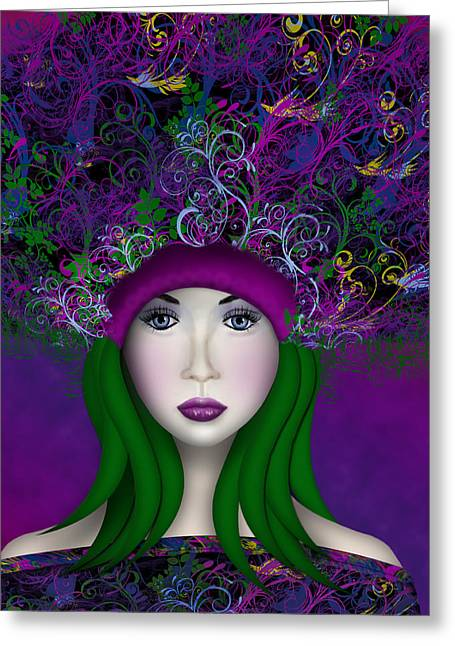 Greeting Card featuring the digital art Enchantress by Katy Breen