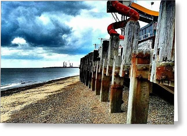 End Of Britannia Pier #wood #pier Greeting Card