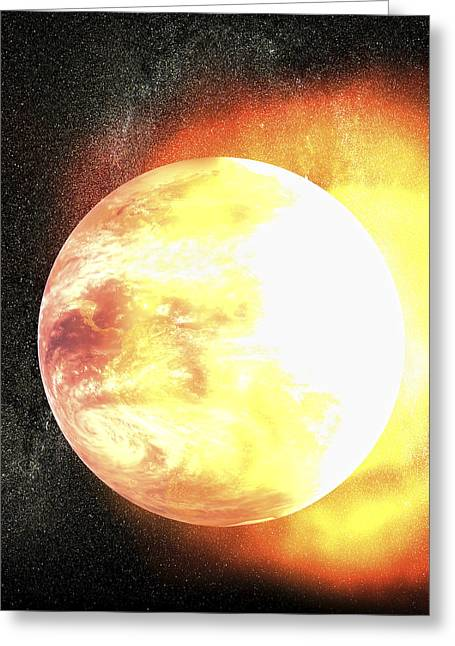 End Of The World, Artwork Greeting Card by Christian Darkin
