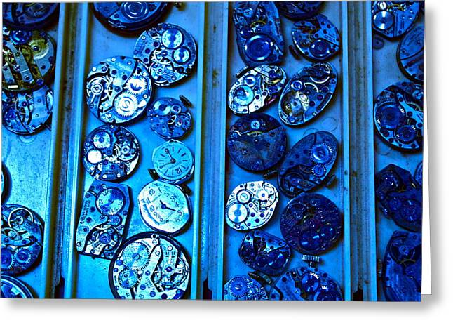 End Of Time Blues Greeting Card by Frank SantAgata