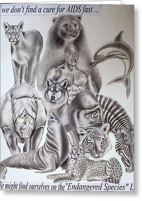 Endangered Species Greeting Card by Rick Hill