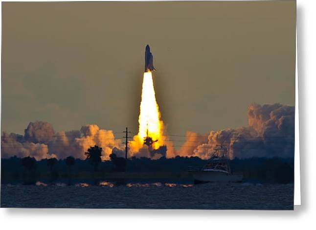 Endeavor Blast Off Greeting Card by Dorothy Cunningham