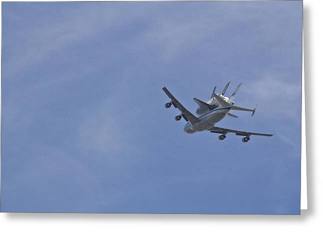 Endeavour's Last Flight Greeting Card by Molly Heng