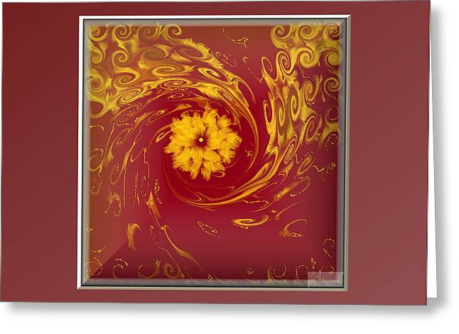 Energy And Stars Greeting Card by Ines Garay-Colomba