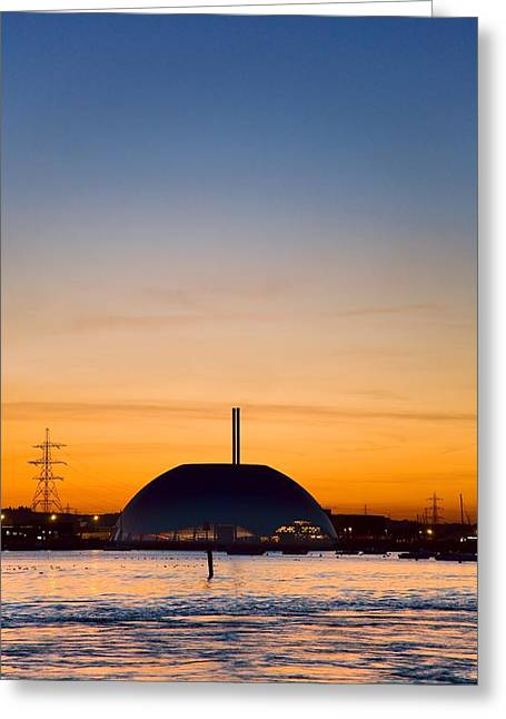 Energy Recovery Facility, Southampton, Uk Greeting Card by Paul Rapson
