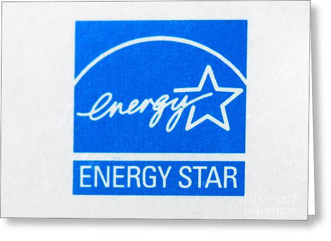 Energy Star Logo Greeting Card by Photo Researchers, Inc.