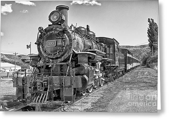 Greeting Card featuring the photograph Engine 593 by Eunice Gibb