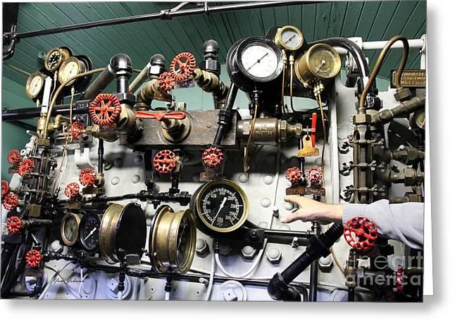 Engine Room  Greeting Card by Yumi Johnson