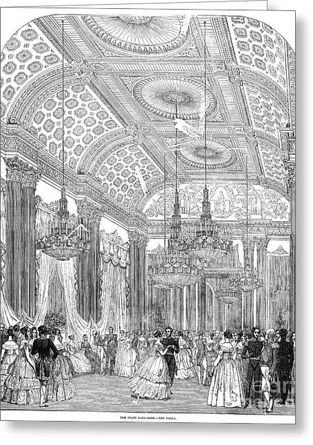 England - Royal Ball 1848 Greeting Card by Granger